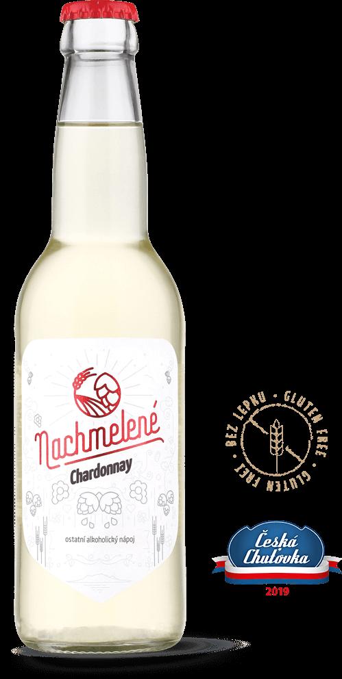 Nachmelené Chardonnay lahev s oceněním Česká Chuťovka 2019
